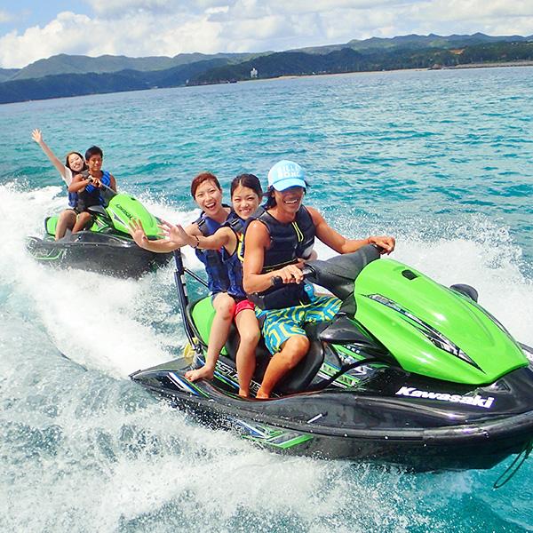 水上バイク、バナナボート、マリンウォーク